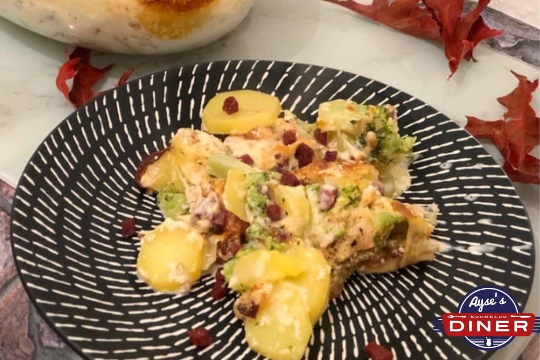 Kartoffelauflauf mit Brokkoli und Sucuk