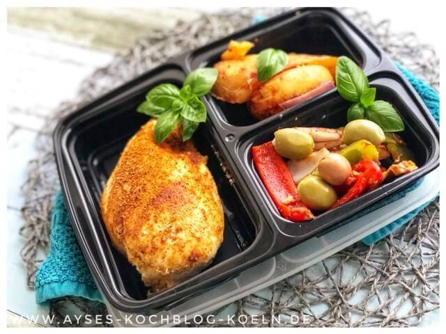 Meal Prep Ideen Hähnchen