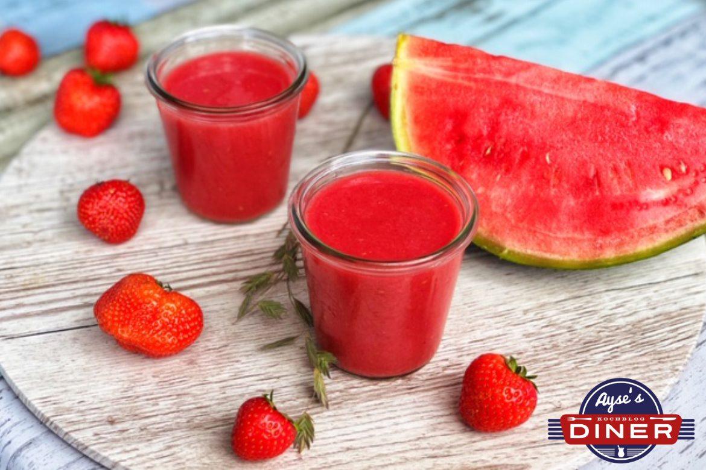 Melonen Erdbeer Smoothie