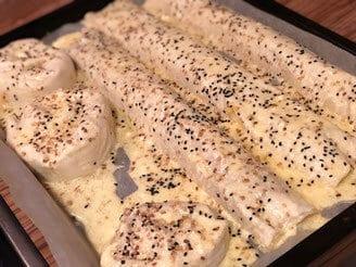 Schnelle türkische Börek mit Kartoffeln und Hackfleisch