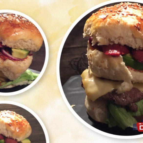 Brioche Burger mit Sucuk