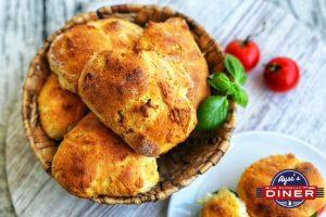 Focaccia Brötchen mit Parmesan