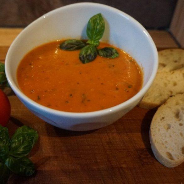 Gegrillte Tomatensuppe