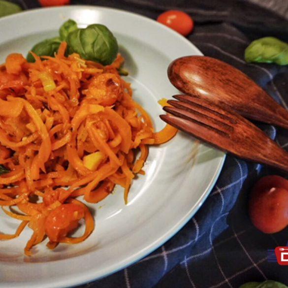 Low Carb Karotten Spaghetti