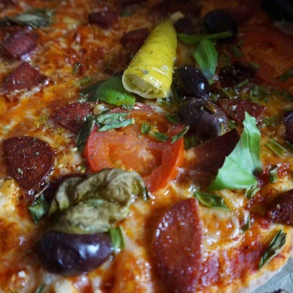 Orientalische Pizza