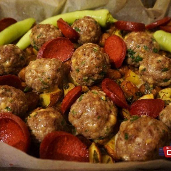 Petersilienkartoffeln mit Hackbällchen - Meal Prep Rezept