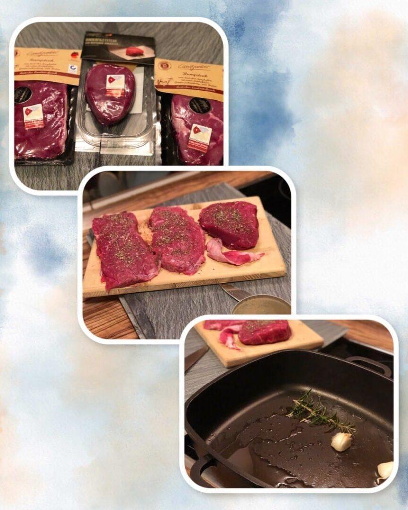 Saftige Steaks Braten