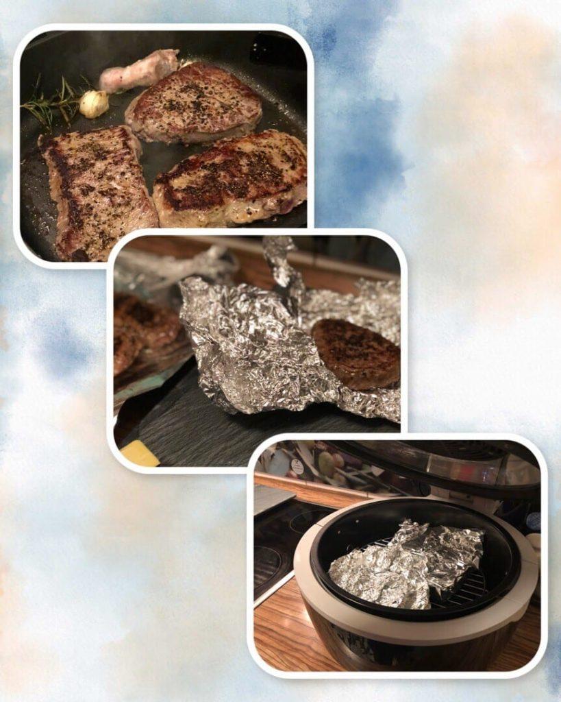 Saftige Steaks Braten REZEPT