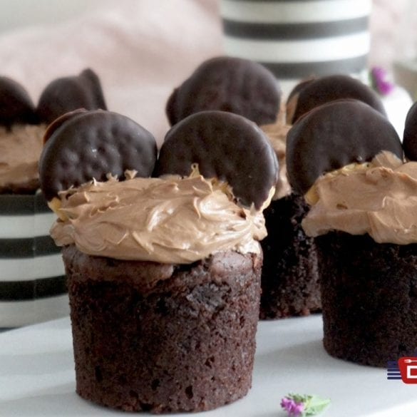 Schoko-Muffins mit Nuss-Nougat-Creme