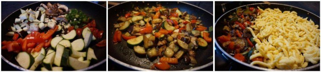 Spätzlepfanne mit Gemüse