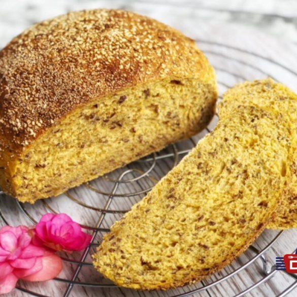 Süßkartoffelbrot - Brot im Römertopf