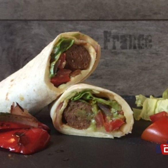 Wrap mit Guacamole