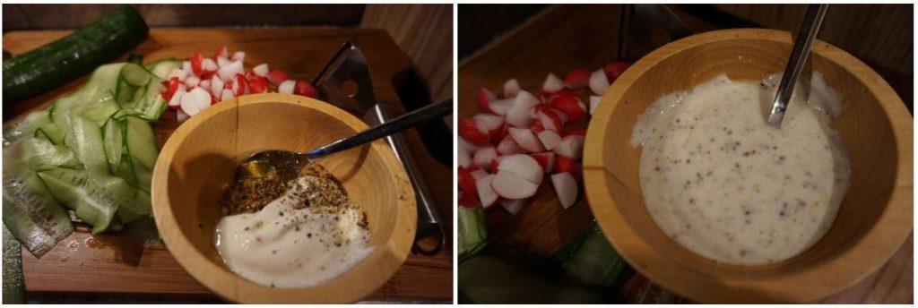 Feldsalat mit Joghurt-Senf-Dressing