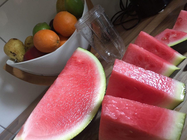 Wassermelone Smoothie mit Orange