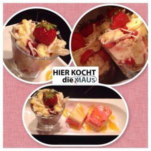 Erdbeer-Vanille-Kuchen im Glas