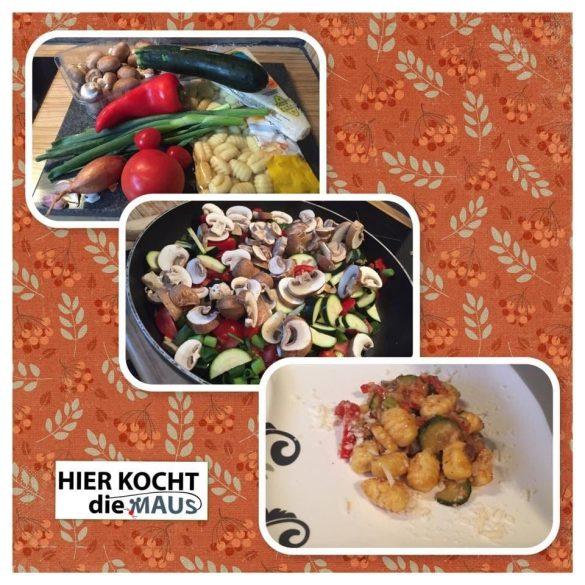 Gemüsepfanne mit Gnocchi und Permesan