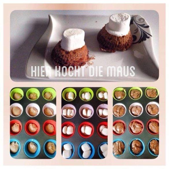 Marshmallow Doppel-Schoko-Muffin