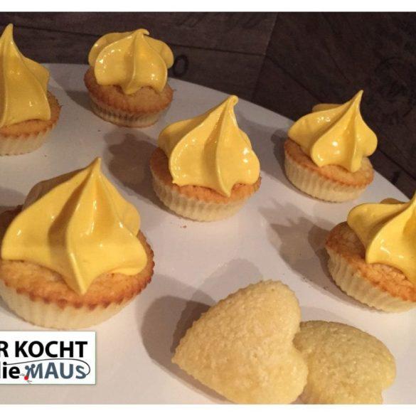 Milchmädchen-Frozen Lemon Cupcake
