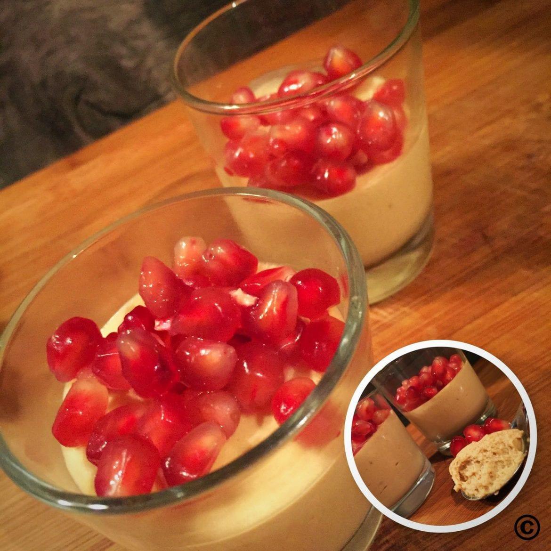 Mousse au Cafe mit Granatapfel
