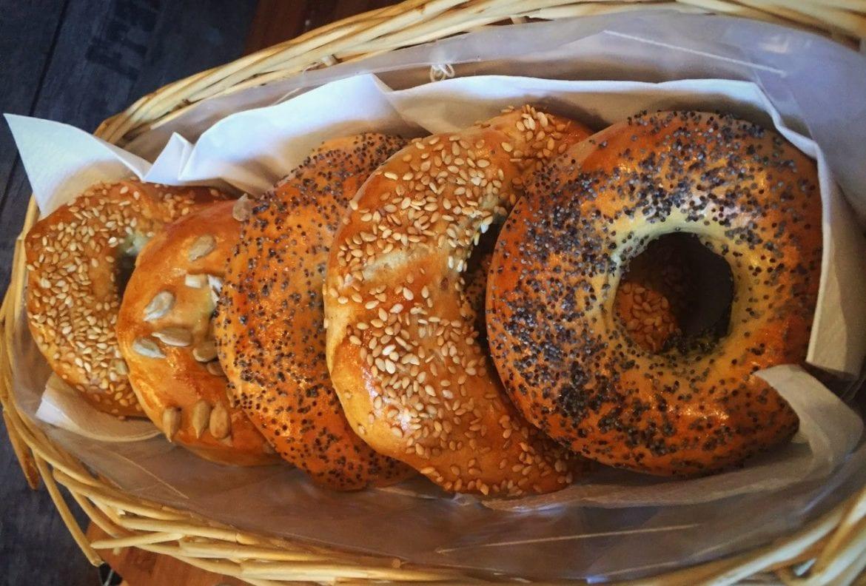 Vollkorn-Bagels