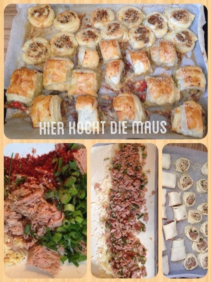 blätterteigtaschen füllung mit Thunfisch-Käse