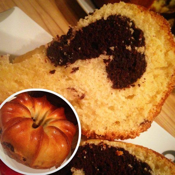 saftiger Marmorkuchen-Sandkuchen-Rührkuchen
