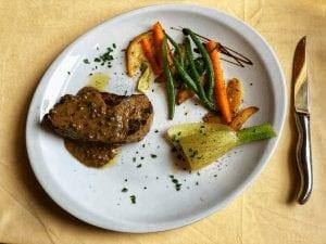 die beste Pfeffersauce Steak mit Rotwein