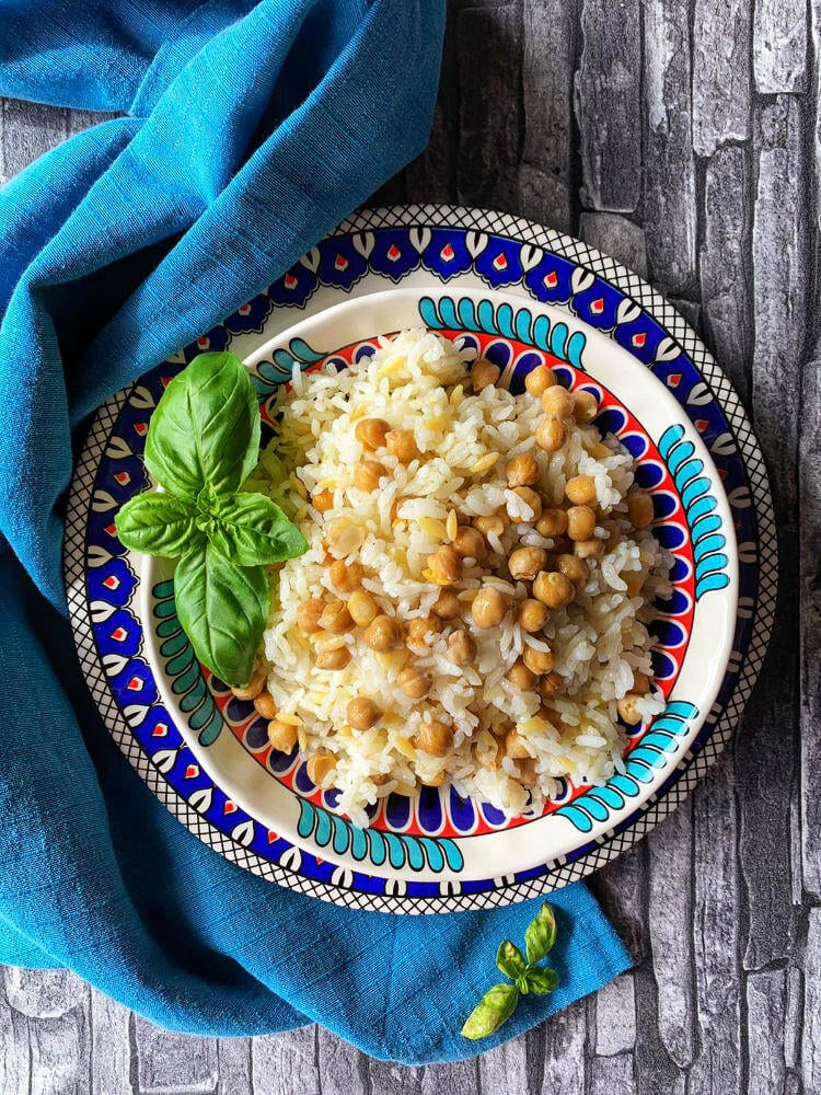 Reis mit Kichererbsen