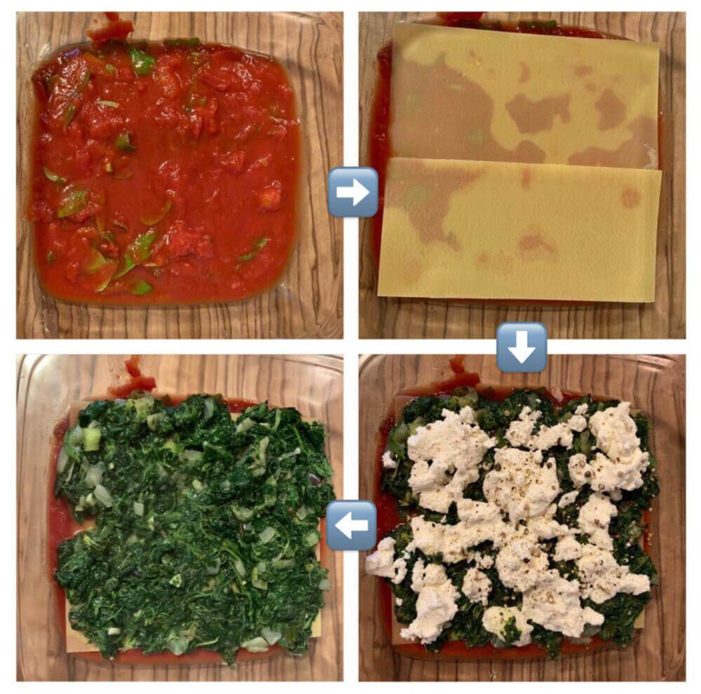 Lasagne Spinat Ricotta mit Rahmspinat - einfaches Rezept 1