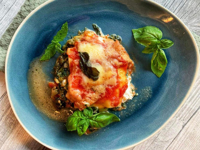 Lasagne Spinat Ricotta mit Rahmspinat - einfaches Rezept