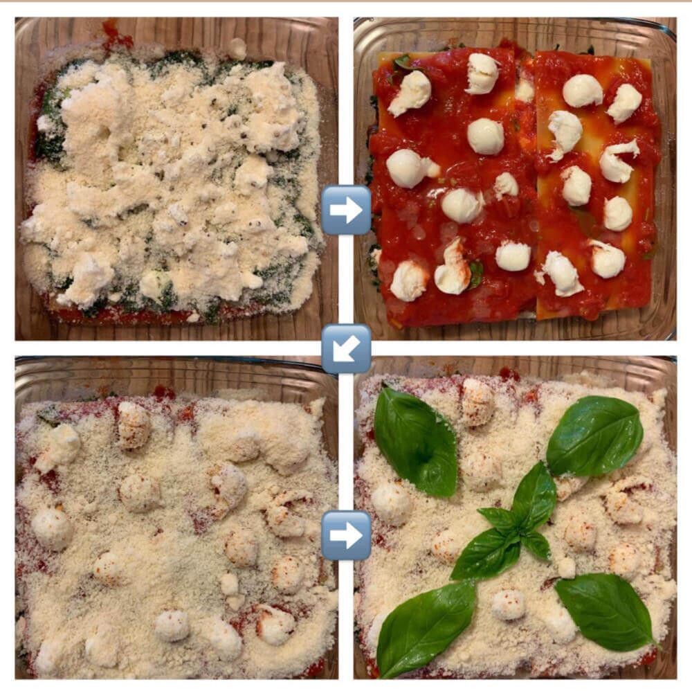Lasagne Spinat Ricotta mit Rahmspinat - einfaches Rezept 2